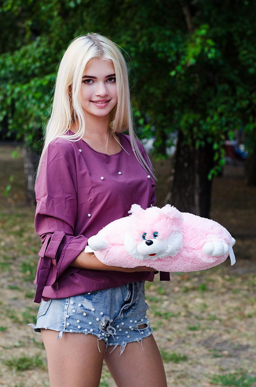 Подушка Складушка Котик Розовый 35 см