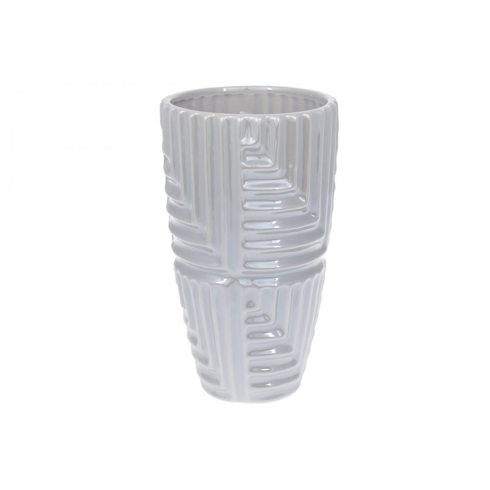 Ваза керам. h-22,5 см, сірий перламутр 733-340/Bonadi