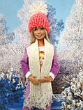 Одяг для ляльок Барбі - шапка і шарфік, фото 3