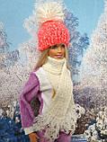 Одяг для ляльок Барбі - шапка і шарфік, фото 4