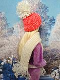 Одяг для ляльок Барбі - шапка і шарфік, фото 5