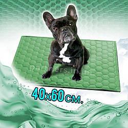 Многоразовая пеленка для собак 40х60 см непромокаемая Цвет ЗЕЛЕНЫЙ