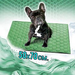 Многоразовая пеленка для собак 50х70 см непромокаемая Цвет ЗЕЛЕНЫЙ