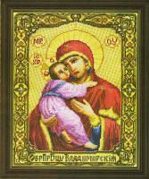 Пресвятая Богородица Владимирская икона Набор для вышивки крестом Чаривна Мыть 255
