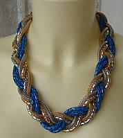 Ожерелье женское колье цепь ювелирная бижутерия 4310