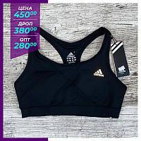 Спортивный топ Adidas черный. Спортивний топ Adidas чорний