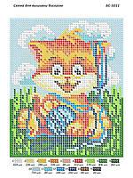 Бс 5011. Схема для вишивки бісером  . Котик