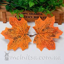 Лист клена двойной 8х10 см оранжевый