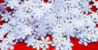 Новогодние  гирлянды- бусы  снежинки