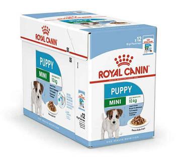 Консервированный корм для щенков royal canin mini puppy 12шт х 85 г