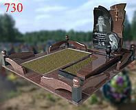 Пам'ятник з фігурною огорожою і місцем для майбутнього захоронення, фото 1