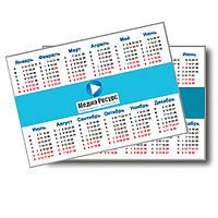 Календарики УФ лак (100х70), 4+4, 300г/м2