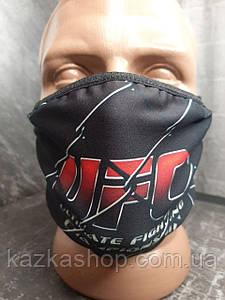 Защитная многоразовая маска с ярким принтом ЮФС, универсальный размер
