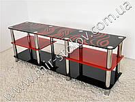 Тумба под телевизор Maxi EXR 1600 черно-красная
