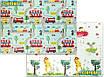 Дитячий килимок для повзання Children GO 180* 150 , двосторонній, з малюнками і текстурним покриттям, фото 4