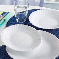 Столовий сервіз з білих тарілок Luminarc Feston 18 пр (D8786)