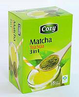 Матча чай с молоком и сахаром 3 в 1 в стиках (18p) Matcha Tra Cozy (Вьетнам)
