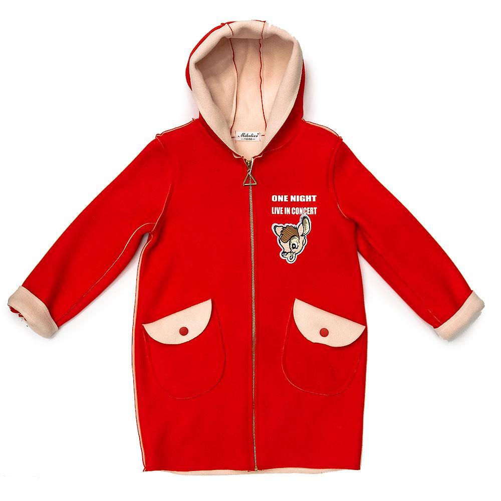 Пальто демісезонне для дівчаток Mike Корея 140 червоне 980311 146