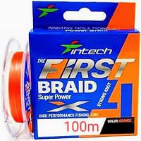 Шнур плетеный Intech First Braid X4 100m #0.6 (10lb/4.54kg)