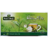 Зеленый чай с жасмином Viet Anh 50g  в пакетиках (25 шт) (Вьетнам)