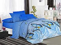 Постельное белье 3Д Двуспальный размер 180*215, Бязь Беларусь арт. Бабочки №1