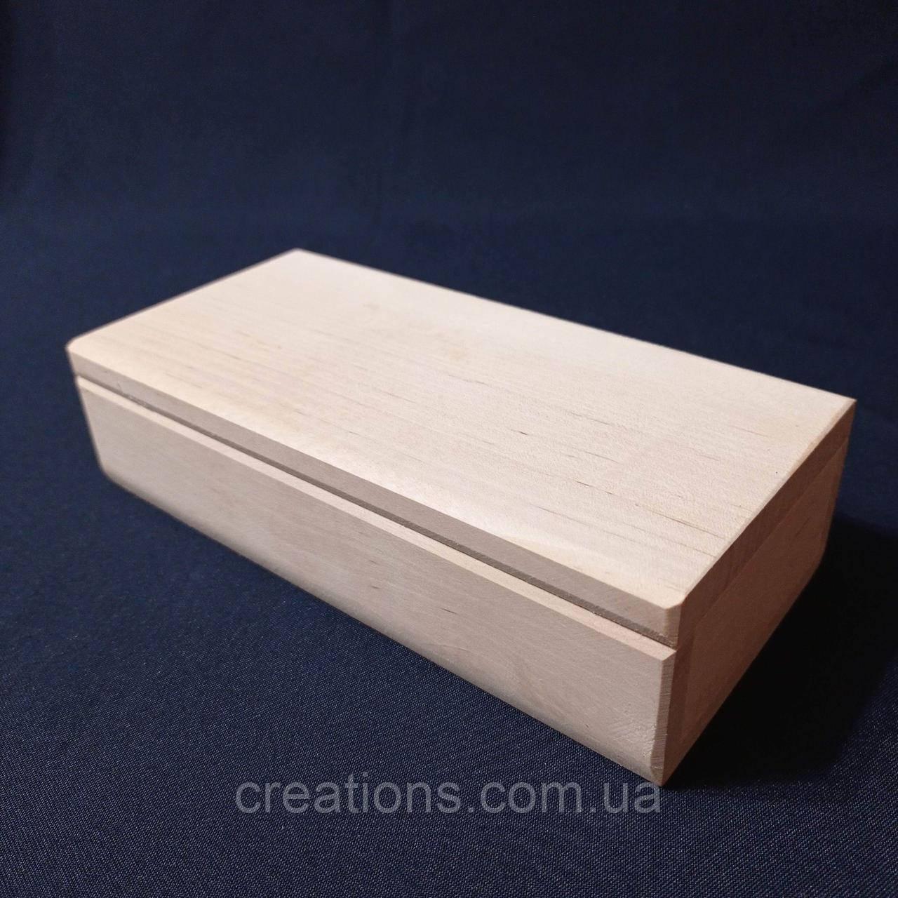 Заготовка для декупажа 20х10х5 см. шкатулка из дерева