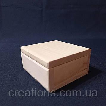 Заготовка для декупажу 10х10х5 см. шкатулка з дерева