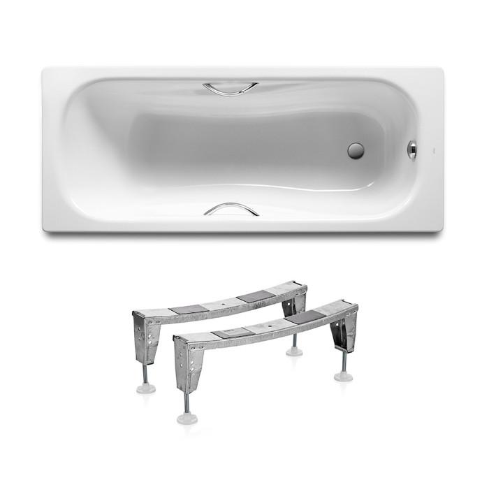 ROCA PRINCESS ванна 170*75см прямоугольная, с ручками, с ножками