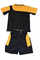 Форма футбольная детская р. 14 (футболка-чёрная,шорты чёрные)