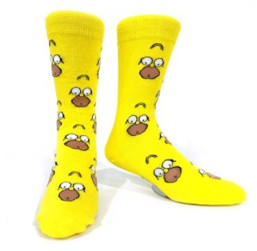 Прикольні чоловічі високі шкарпетки з принтом Гомера Сімпсона