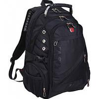 Рюкзак Wenger8810 SwissGear с USb выходом, Свиссгир, Черный рюкзак- для туризма, спорта и города (повседневный