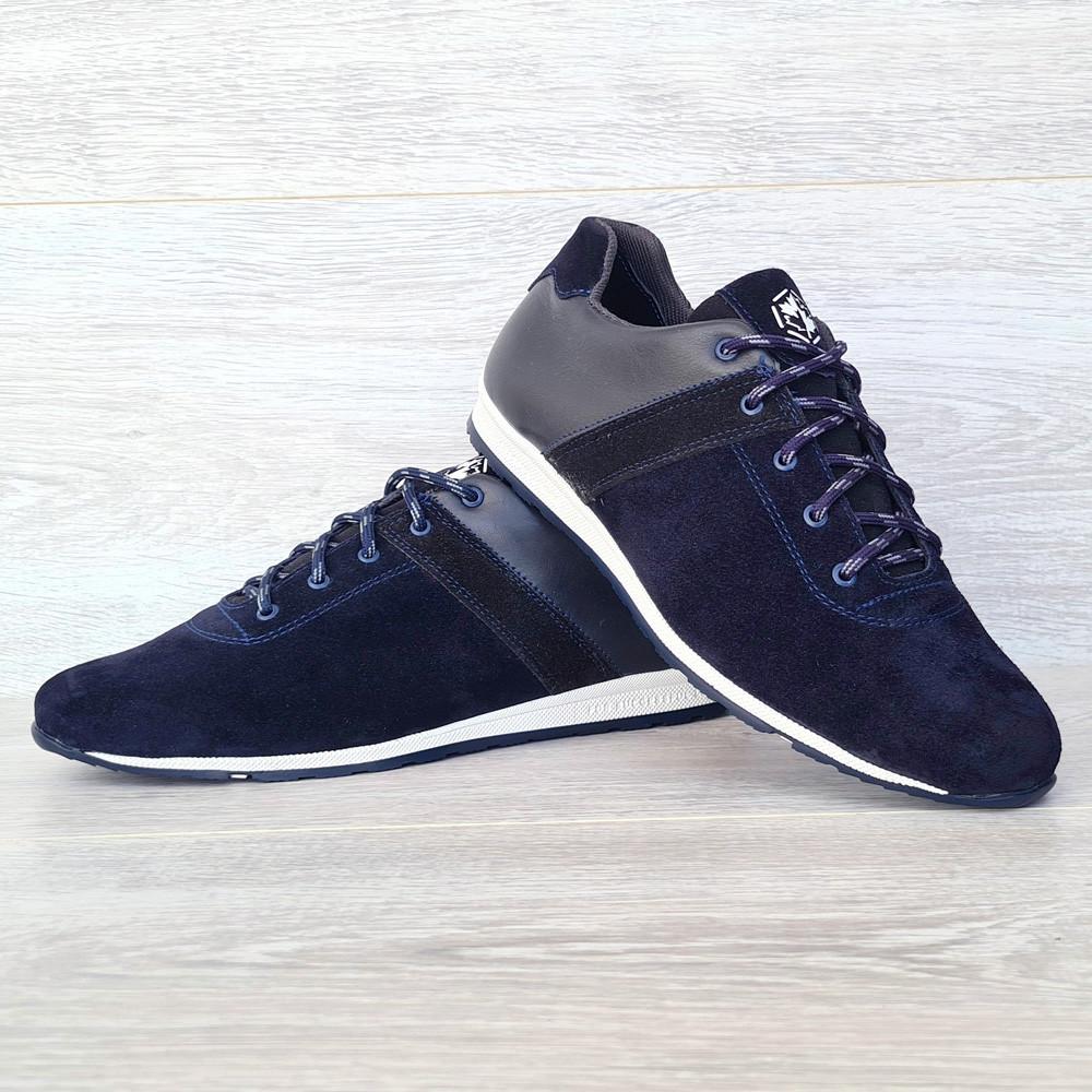 42 РАЗМЕР Мужские кроссовки демисезонные натуральная кожа темно-синего цвета (Кч-1с)