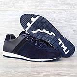 42 РАЗМЕР Мужские кроссовки демисезонные натуральная кожа темно-синего цвета (Кч-1с), фото 7