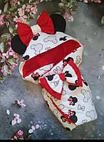 """Конверт-одеяло на выписку """"Микки маус"""", конверт на выписку"""