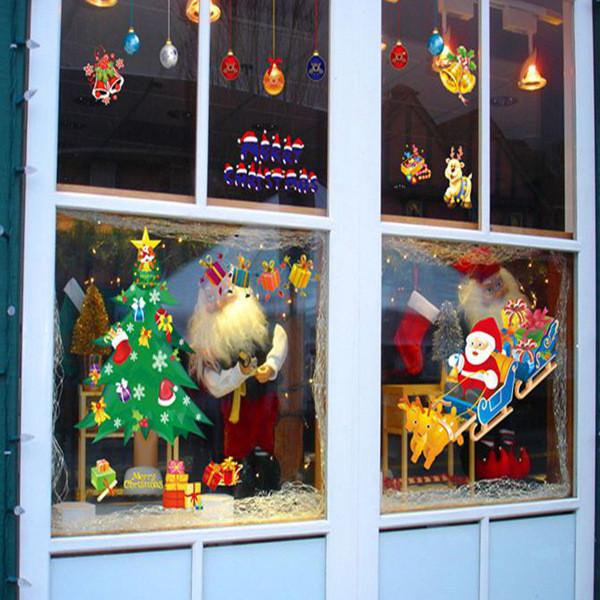 наклейки новогодние на окна