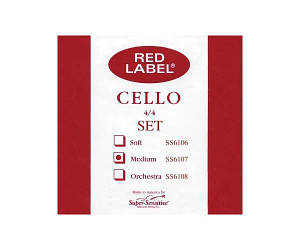 Струны для виолончели SUPER-SENSITIVE SS6107 Red Label Cello Set 4/4 (Medium)