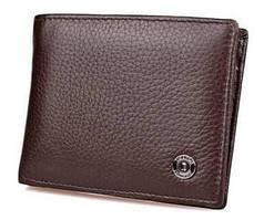 Мужской кожаный кошелек с зажимом на магните Boston B4-257 Коричневый