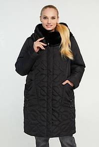 Женская стильная зимняя куртка В-321 в размерах 58,60