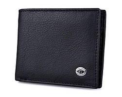 Мужской кожаный кошелек с зажимом на магните ST Leather ST-87 Черный
