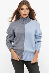 Женский свитер двухцветный -212