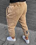 😜Спортивные штаны - Мужские спортивки бежевые на флисе/ чоловічі спортивні штани на флісі, фото 2