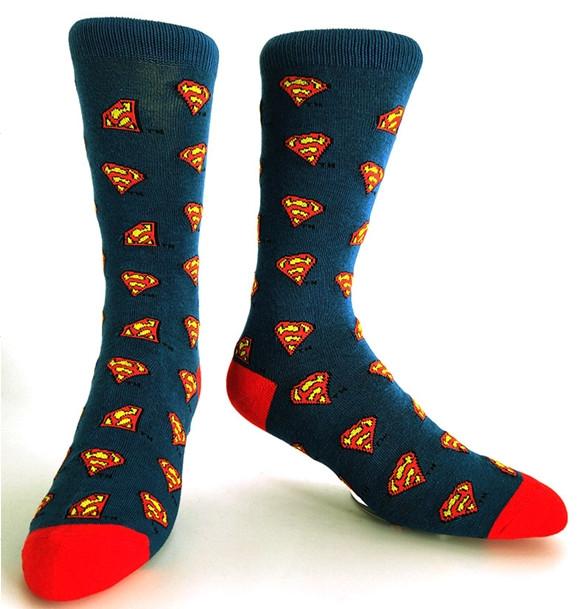 Високі чоловічі шкарпетки Супермен