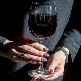 Именной бокал для вина. Винный бокал с именным принтом персонализированным. Бокал на подарок