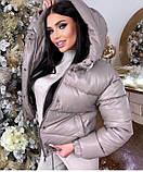 Женская теплая куртка из эко-кожи, размеры:42-44 44-46, 5 цветов., фото 2