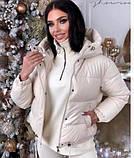 Женская теплая куртка из эко-кожи, размеры:42-44 44-46, 5 цветов., фото 5