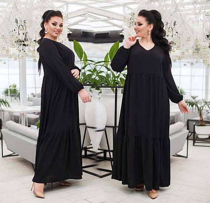 """Женское нарядное платье в больших размерах 15313-1 """"Софт Макси Волан"""" в расцветках"""