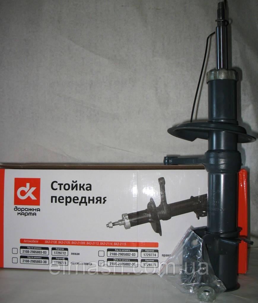 Амортизатор ВАЗ 2108 (стойка правая) газовый (ДК)