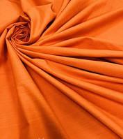 Простирадло на гумці яскраво-оранжева з бязі, будь-які розміри, з наволочками і без