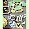 Розвиваюча дошка розмір 50*60 Бизиборд для дітей 43 елемента!, фото 3