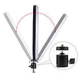 """Кольцевая LED лампа диаметром SMN-12"""" (30 см) с пультом и зеркалом Black (14418), фото 3"""